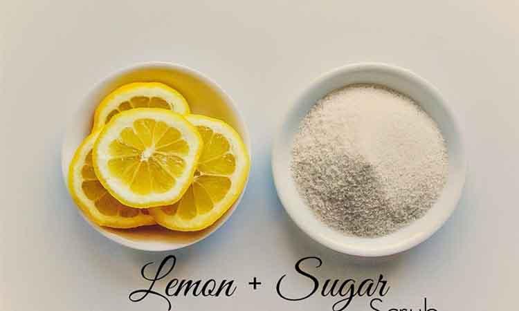 Λεμόνι και ζάχαρη για λαμπερό δέρμα