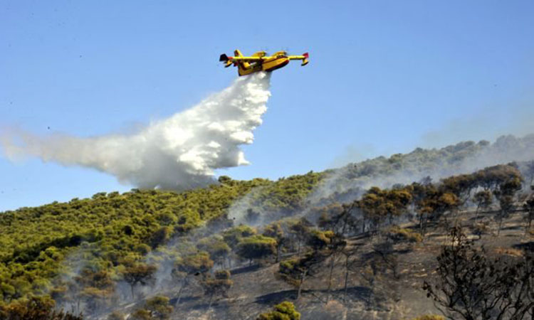 Συνεχίζεται η μάχη με τις φλόγες στην Κερατέα