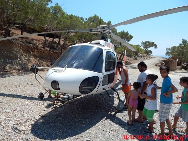 Ρώσοι προσκυνητές πήγαν με ελικόπτερο σε ελληνικό μοναστήρι