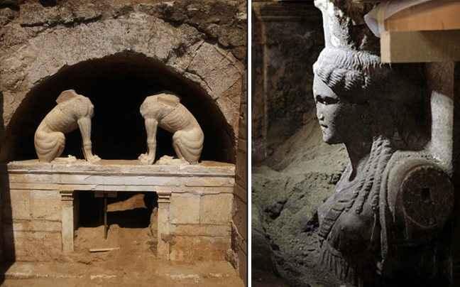 Συνεχίζονται με πυρετώδεις ρυθμούς οι ανασκαφές στην Αμφίπολη