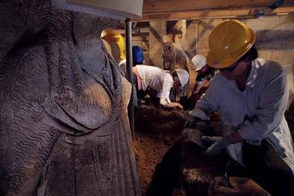 Τη δομική κατάσταση του τρίτου θαλάμου στην Αμφίπολη αποτύπωσαν οι αρχαιολόγοι