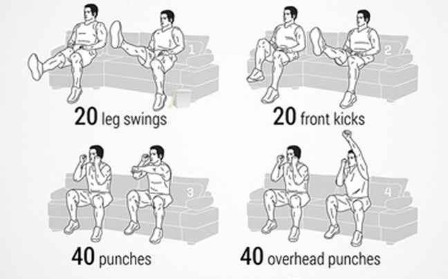 Γυμναστείτε από τον… καναπέ