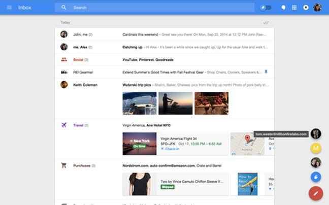 Η Google παρουσίασε το e-mail του μέλλοντος