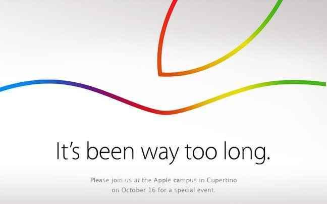 Παρουσίαση της Apple στις 16 Οκτωβρίου