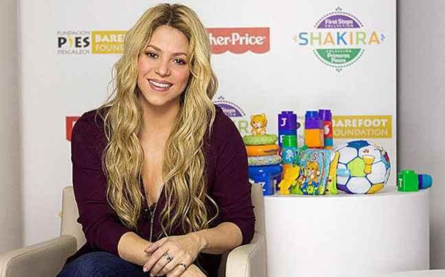 Η Shakira σχεδιάζει παιδικά παιχνίδια