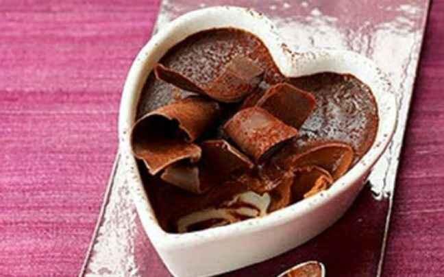 Κρέμα φούρνου με μαύρη σοκολάτα