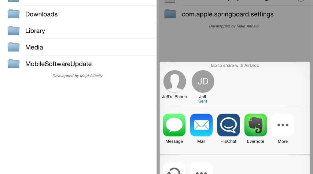 AnyDrop 3 : μοιράστε οποιοδήποτε αρχείο μέσω AirDrop στο iOS 8