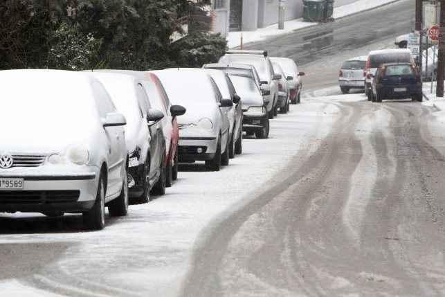 Κλειστοί δρόμοι σε όλη τη χώρα λόγω του χιονιά