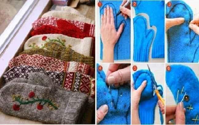 Φτιάξτε γάντια από το παλιό σας πουλόβερ!