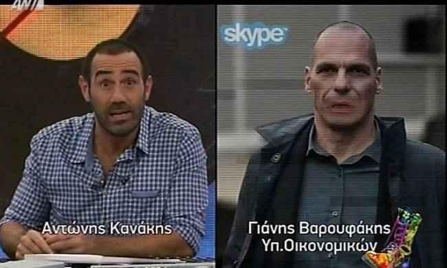 Ο Κανάκης πήρε συνέντευξη από τον Γιάνη Βαρουφάκη