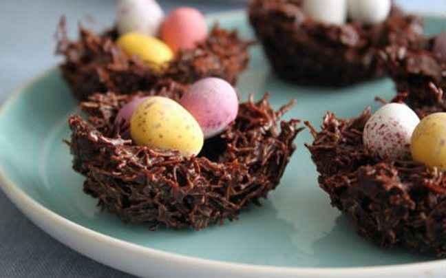 Σοκολατένιες πασχαλινές φωλιές