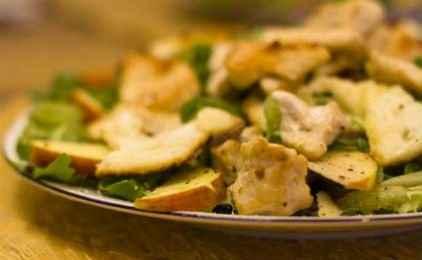 Σαλάτα με ρόκα και κοτόπουλο