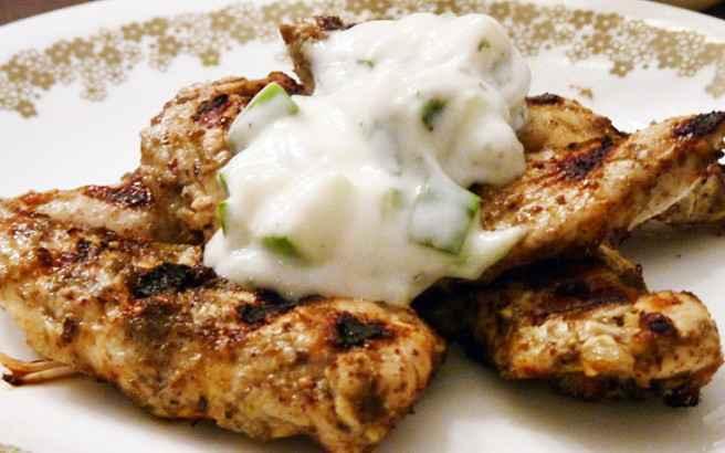 Κοτόπουλο με σως γιαουρτιού