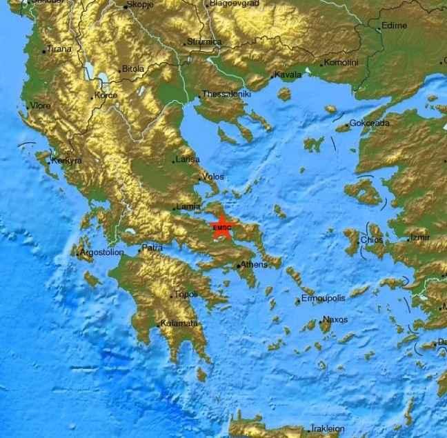 Σεισμός 5,2 Ρίχτερ κοντά στη Χαλκίδα