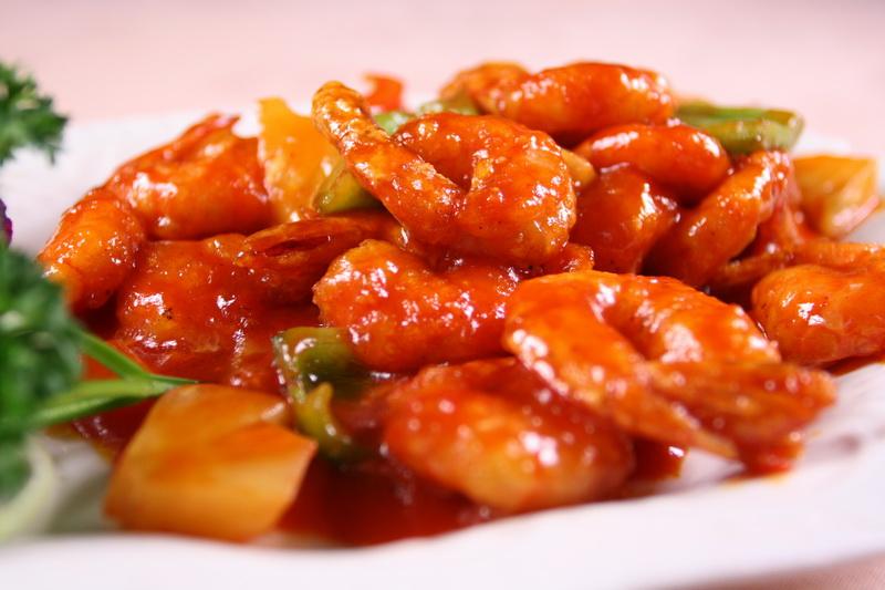 Γλυκόξινες γαρίδες σε 10 λεπτά