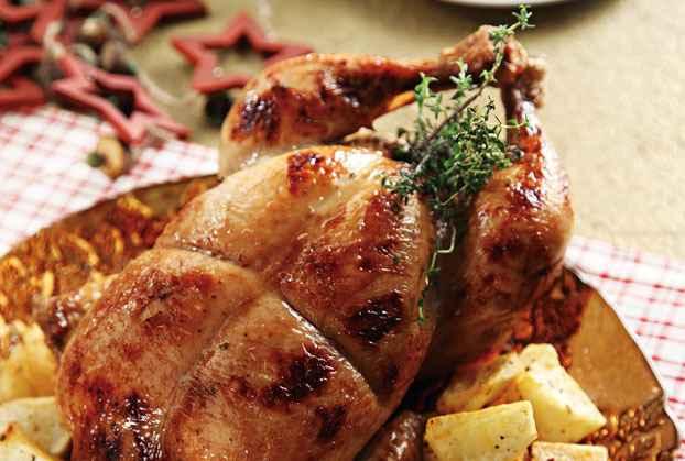 Κοτόπουλο γεμιστό με μανιτάρια και παρμεζάνα σε σάλτσα μουστάρδας