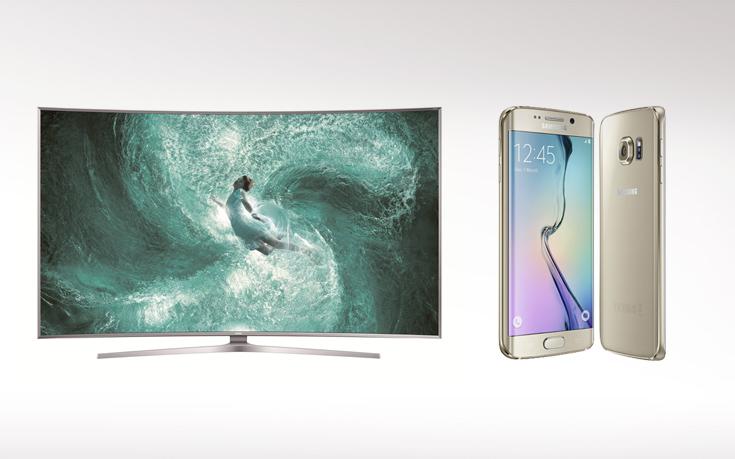 """Διακρίσεις για τη Samsung SUHD TV JS9500 65"""" και το Galaxy S6 edge"""
