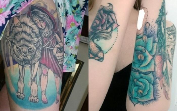 Κάτω από τα τατουάζ της κρύβεται ένα τραγικό μυστικό… (εικόνες)