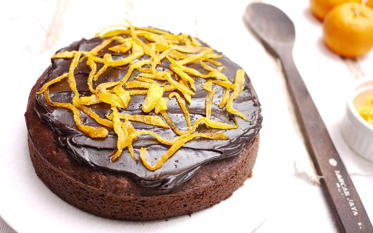 Κέικ πορτοκάλι με επικάλυψη σοκολάτας