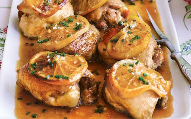 Κοτόπουλο με σάλτσα πορτοκαλιού