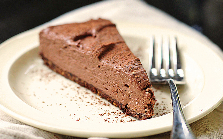 Cheesecake φούρνου με σοκολάτα