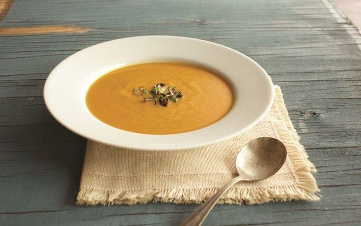 Βελουτέ σούπα από γλυκιά κολοκύθα
