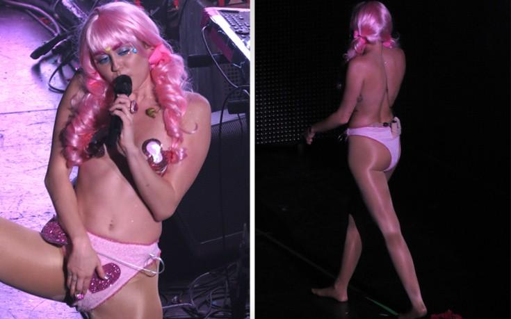 Η προκλητική εμφάνιση της Miley Cyrus