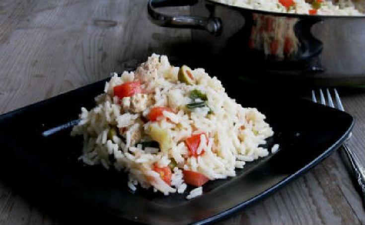 Ρύζι με κάππαρη και ελιές