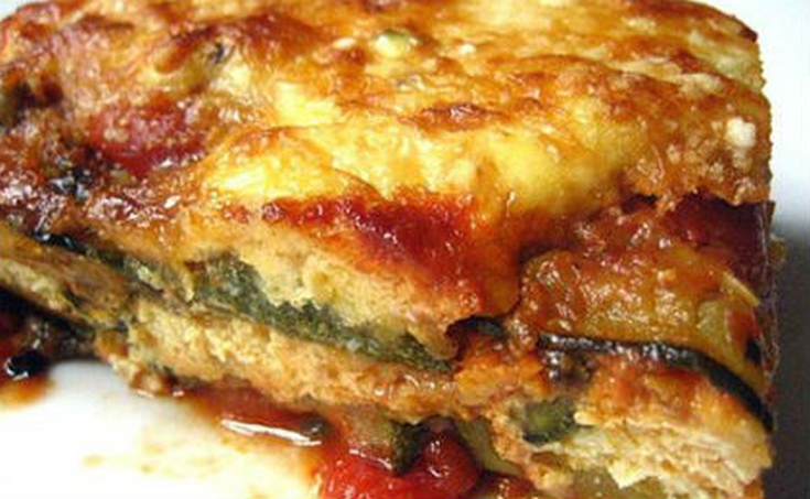Λαζάνια με κολοκυθάκια και τυριά
