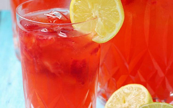 Λεμονάδα με φράουλα