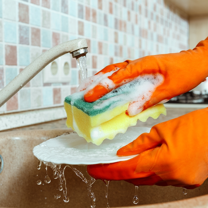 Ένα υγρό πιάτων φτιαγμένο από τα χεράκια σας!