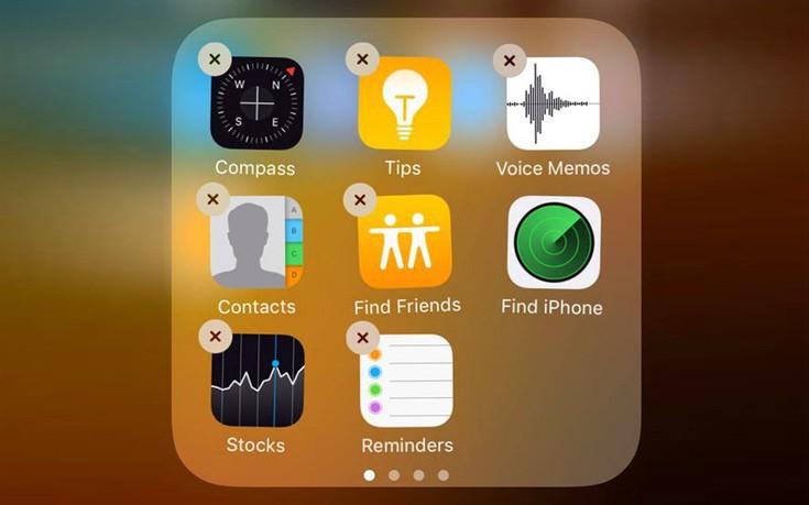 Η λύση για όσους θέλουν να απαλλαγούν από τις προεπιλεγμένες εφαρμογές των iPhone