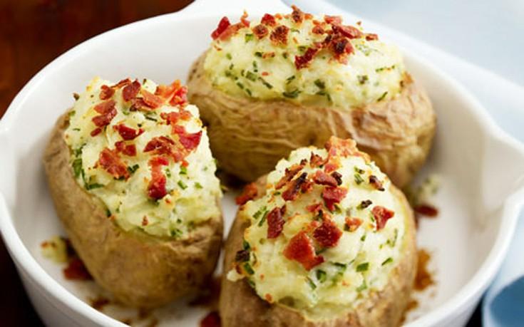 Γεμιστές πατάτες φούρνου