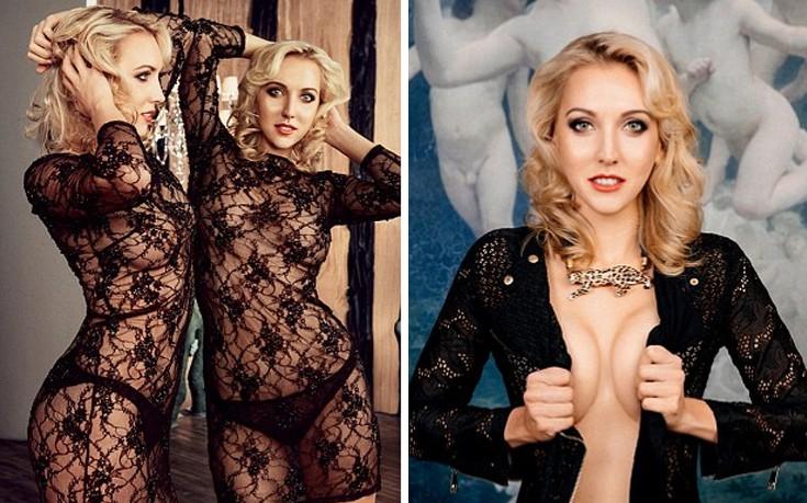 Ρωσίδα τενίστρια με μαύρη δαντέλα στο Playboy