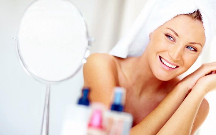 Αποκτήστε λάμψη το πρωί σε πρόσωπο και μαλλιά