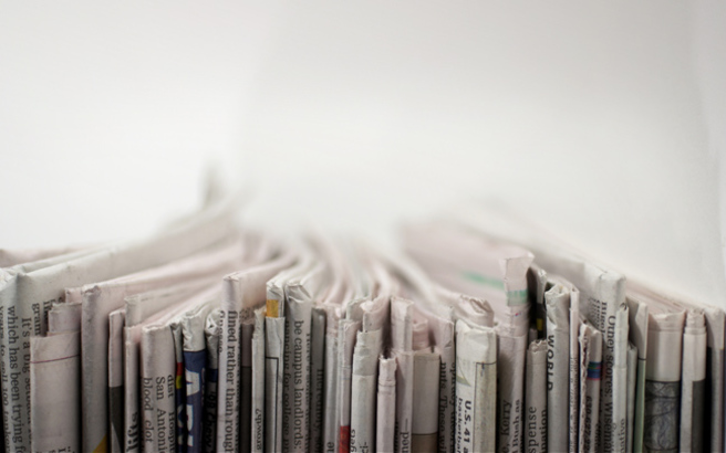Η έξυπνη χρήση της εφημερίδας μέσα στο σπίτι