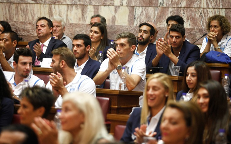 Στη Βουλή η Ολυμπιακή Ομάδα