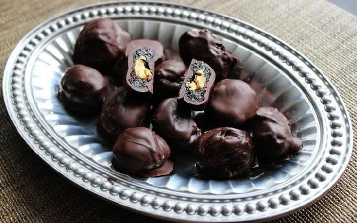 Δαμάσκηνα με επικάλυψη σοκολάτας