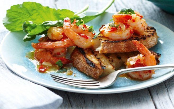 Γαρίδες με σκόρδο και τσίλι