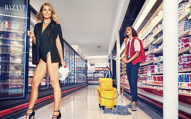 Με μαγιό και γόβες στιλέτο σε σούπερ μάρκετ η Gwyneth Paltrow