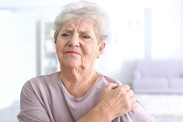 bigstock Elderly woman suffering from p 167537699