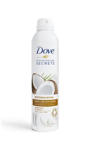 Dove Body Lotion Spray Coconut