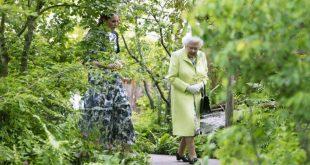 Η βασίλισσα Ελισάβετ περιηγήθηκε στον κήπο που σχεδίασε η Κέιτ Μίντλετον