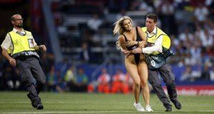 Champions League: Ποια είναι η σέξι ξανθιά που εισέβαλε στον τελικό