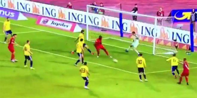 Ο Λουκάκου πήγε να σημειώσει «μαγικό» γκολ, αλλά κάτι πήγε στραβά