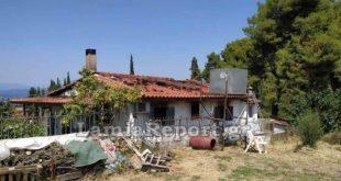 Εικόνες καταστροφής στον Άγιο Κωνσταντίνο σε σπίτι που κάηκε