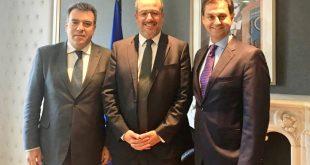 Συνάντηση του Χ. Θεοχάρη με τον γενικό διευθυντή Εμπορικής και Επιχειρησιακής Ανάπτυξης της Fraport