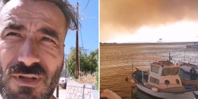 Ο Γιώργος Μαυρίδης πόσταρε φωτογραφίες από τη μεγάλη φωτιά στην Εύβοια