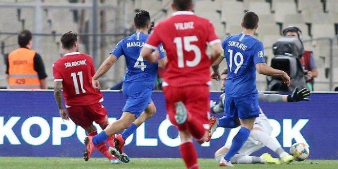 Ισοπαλία της Ελλάδας με το Λιχτενστάιν με 1-1