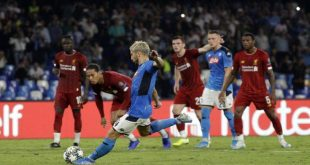 Μεγάλη νίκη της Νάπολι επί της πρωταθλήτριας Ευρώπης, Λίβερπουλ
